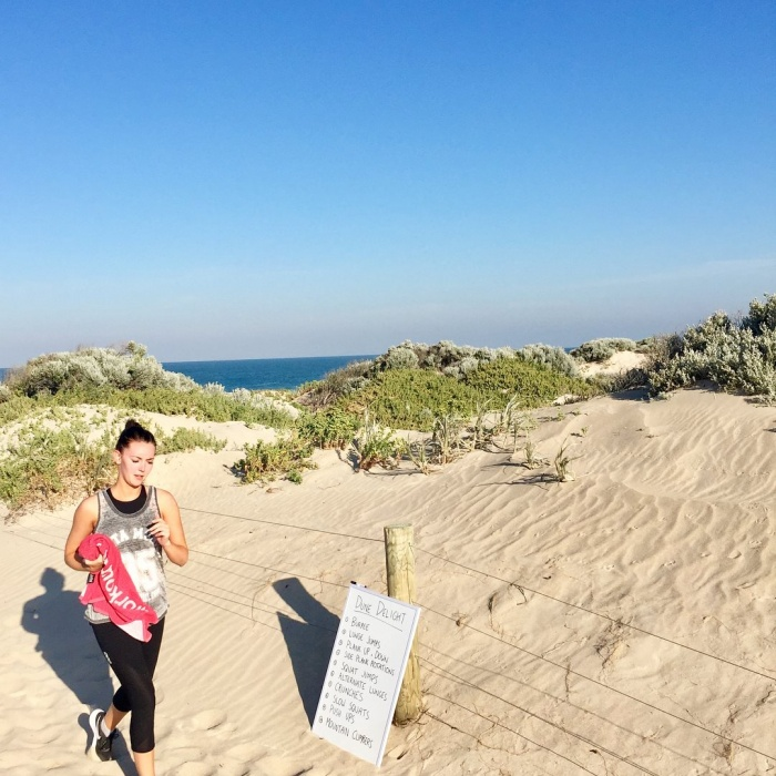 Fine Tune Fitness Secret Harbour - Beach running solo