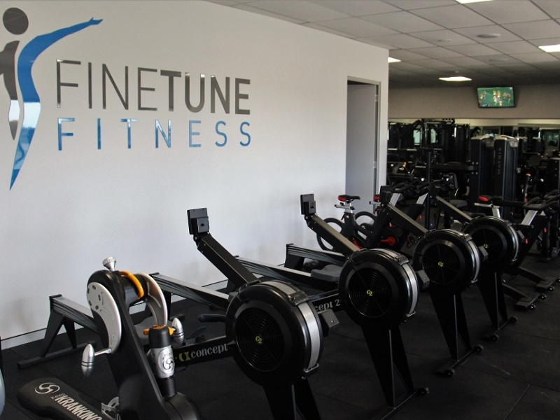 Fine Tune Fitness logo & rowing